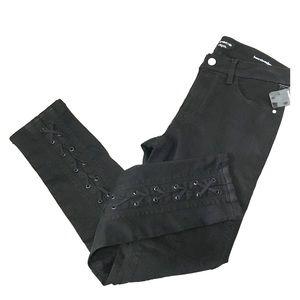 New Bebe Black Ankle Skinny Jeans